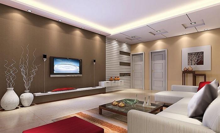 Wohnzimmer-rot-Ein-super-Interieur