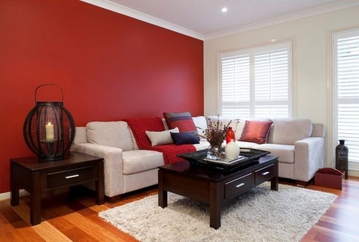 Wohnzimmer rot: Eine außergewöhnliche Deko
