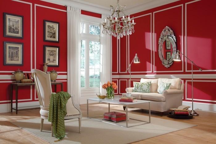 Wohnzimmer-rot-Eine-außergewöhnliche-Dekoration
