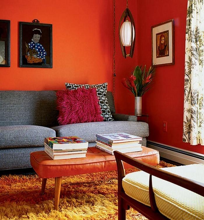 Wohnzimmer-rot-Eine-auffällige-Atmosphäre
