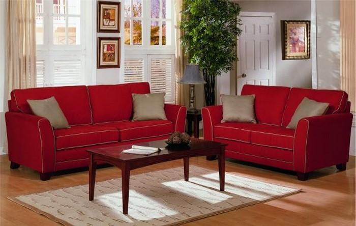 Wohnzimmer-rot-Eine-auffällige-Ausstrahlung