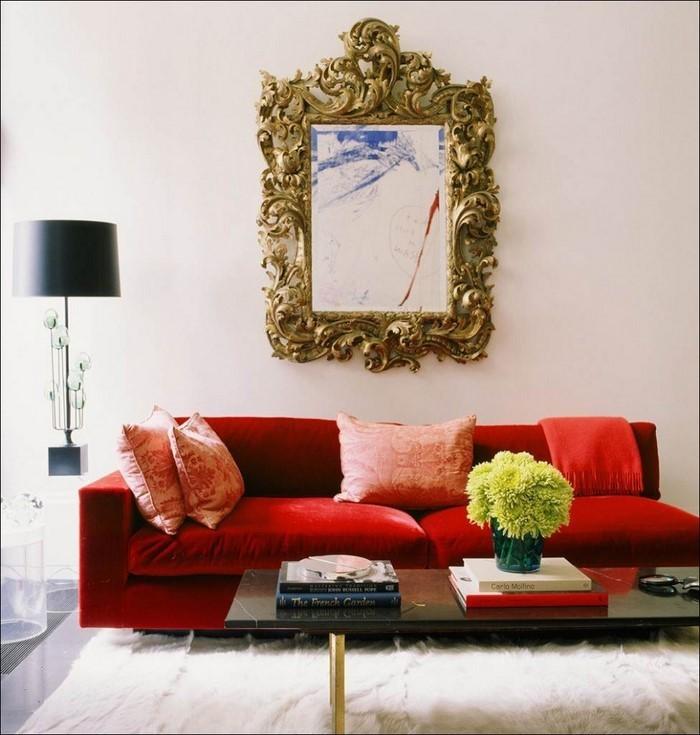 Wohnzimmer-rot-Eine-auffällige-Gestaltung