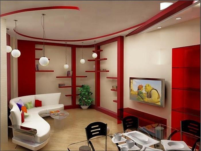 chestha.com | rot design wohnzimmer - Bilder Wohnzimmer Rot