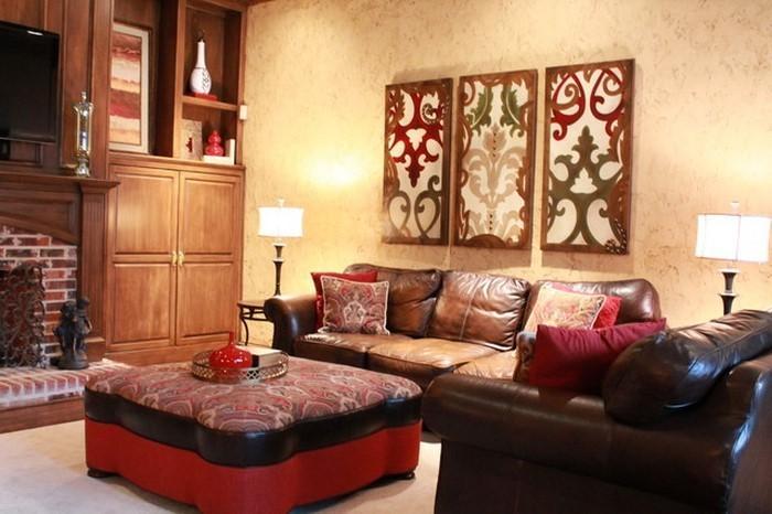 Wohnzimmer-rot-Eine-coole-Ausstattung
