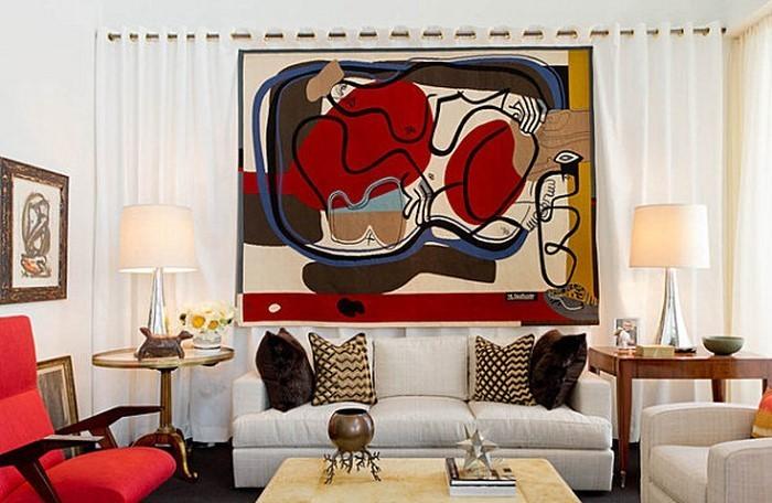 Wohnzimmer-rot-Eine-coole-Deko