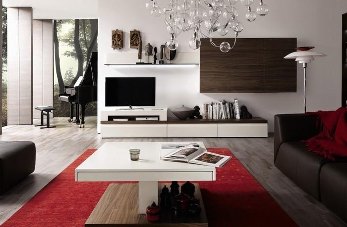 Wohnzimmer-rot-Eine-kreative-Ausstattung