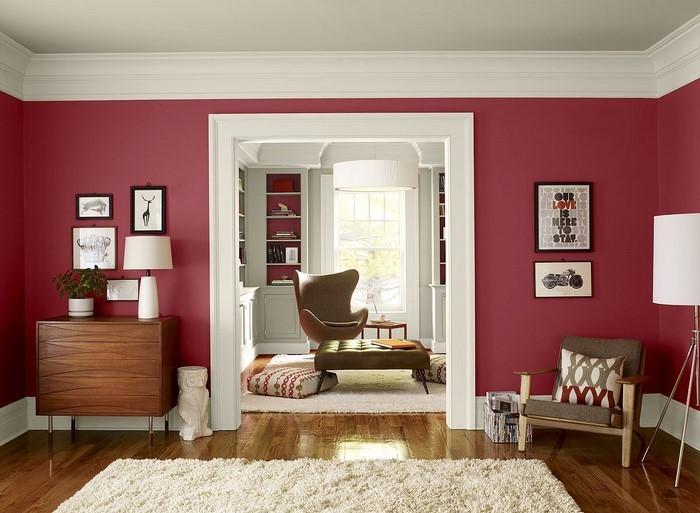 Wohnzimmer-rot-Eine-kreative-Ausstrahlung