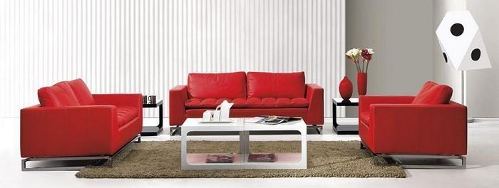 Wohnzimmer-rot-Eine-moderne-Ausstattung