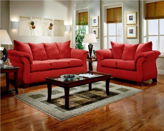 Wohnzimmer-rot-Eine-tolle-Ausstattung