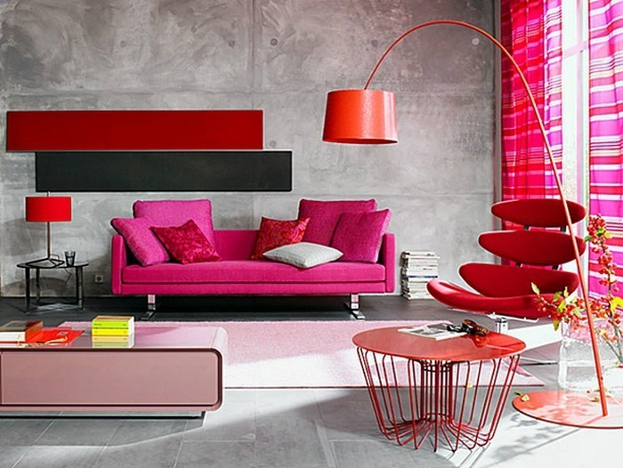 emejing wohnzimmer sofa rot photos - house design ideas ... - Wohnzimmer Farbe Rot