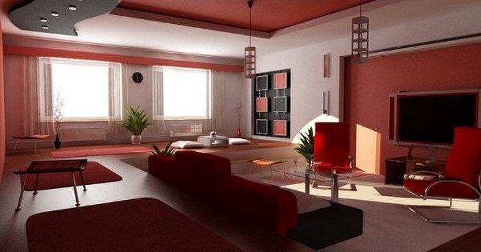 Beautiful Wohnideen Wohnzimmer Rot Images - House Design Ideas ...