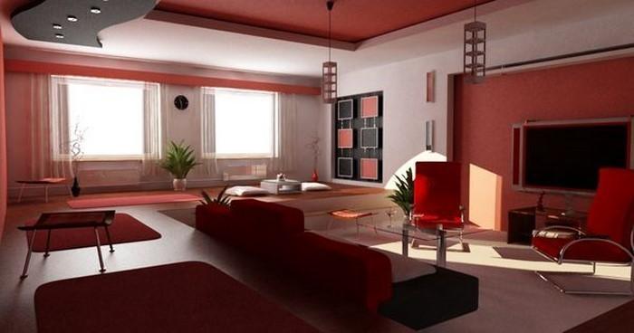 das wohnzimmer rot gestalten 79 einmalige wohnideen - Einrichtung Wohnzimmer Rot
