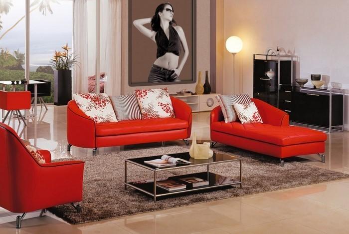 Wohnzimmer-rot-Eine-verblüffende-Ausstrahlung