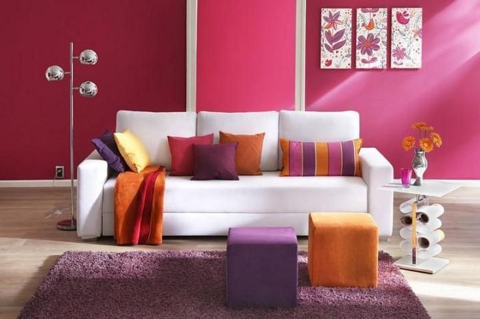 Wohnzimmer-rot-Eine-verblüffende-Deko