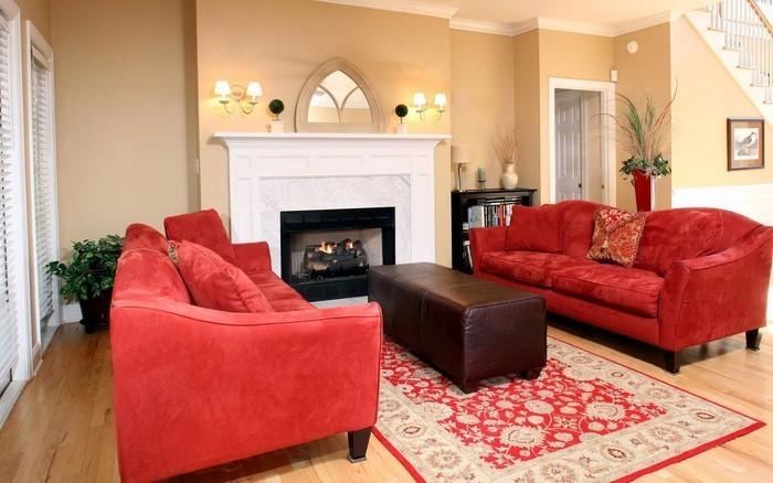Wohnzimmer-rot-Eine-verblüffende-Gestaltung