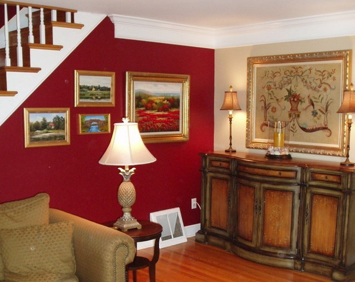 Wohnzimmer-rot-Eine-wunderschöne-Ausstattung