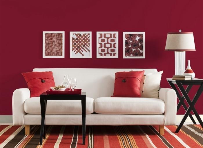 Lieblich Das Wohnzimmer Rot Gestalten: 79 Einmalige Wohnideen ...