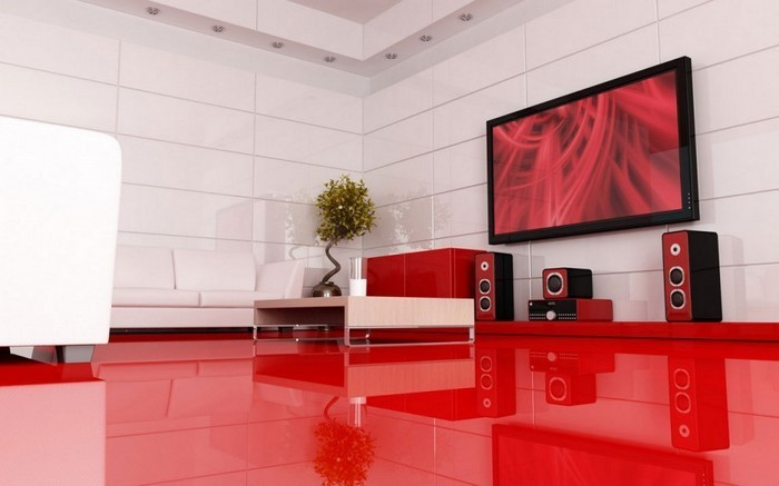 Wohnzimmer-rot-Eine-wunderschöne-Dekoration