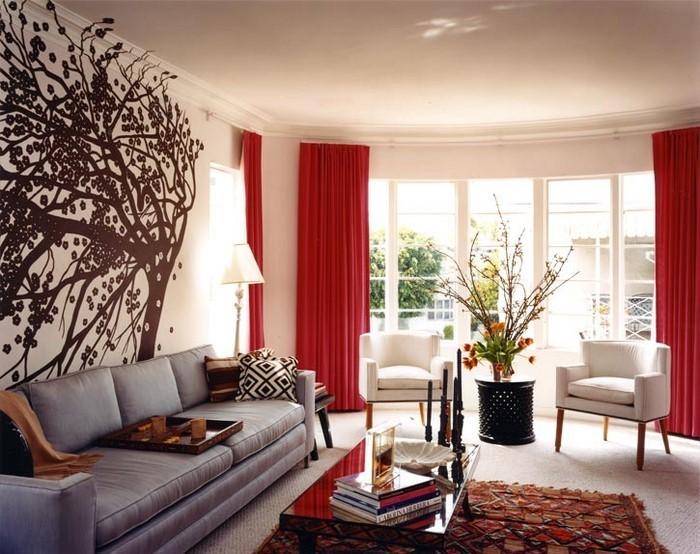 Wohnzimmer-rot-Eine-wunderschöne-Entscheidung
