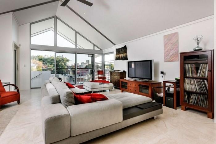 Wohnzimmer-rot-Eine-wunderschöne-Gestaltung