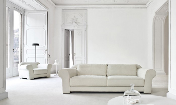 dunkles wohnzimmer hell gestalten:Wohnzimmer in Weiß gestalten:Eine ...