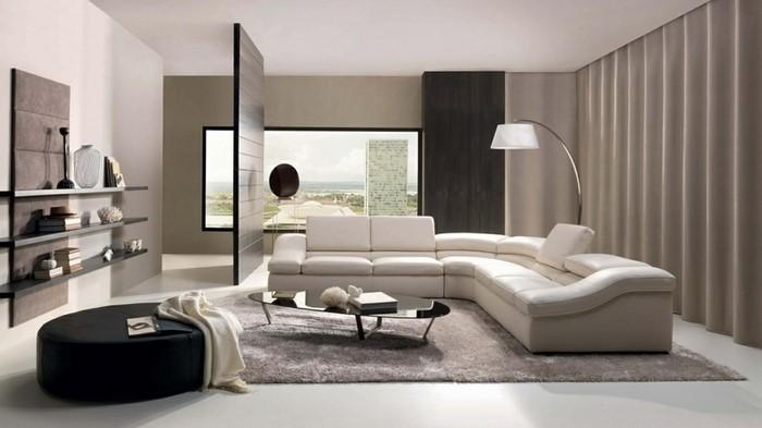 Wohnzimmereinrichtung In Weiss Ein Modernes Design
