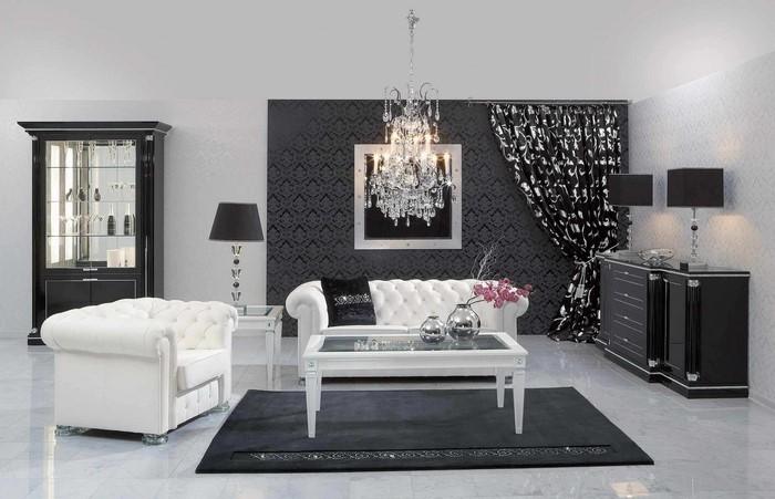 Wohnzimmer einrichtungsideen weiss  Wohnzimmereinrichtung in Weiß: 80 wunderschöne Ideen