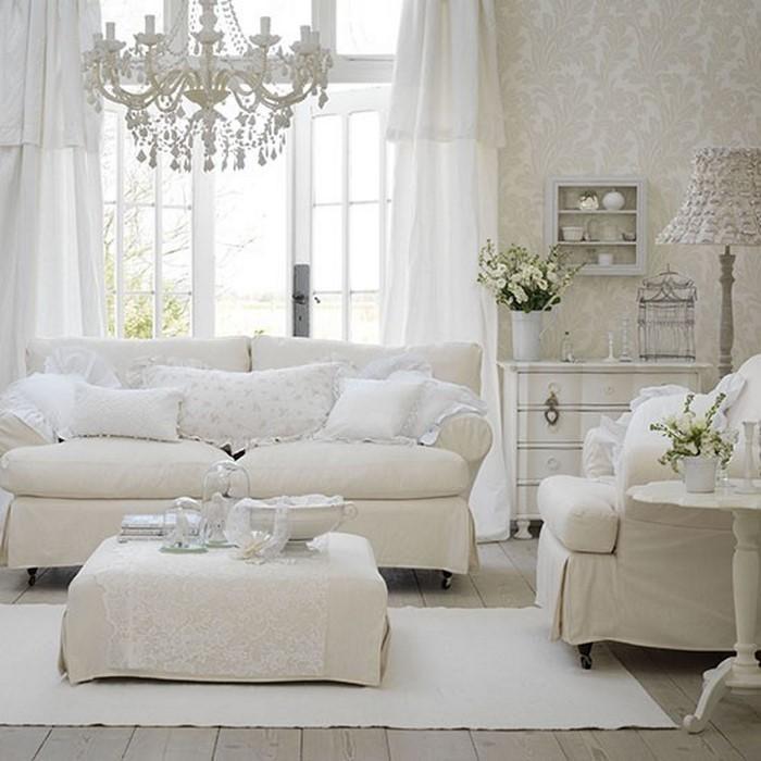 wohnzimmereinrichtung in weiß: 80 wunderschöne ideen, Hause deko