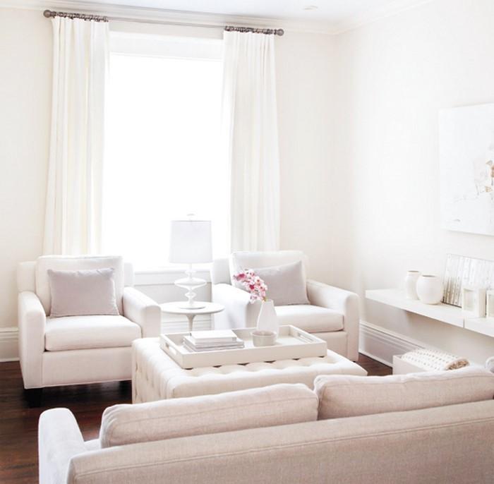 wohnzimmereinrichtung in wei 80 wundersch ne ideen. Black Bedroom Furniture Sets. Home Design Ideas