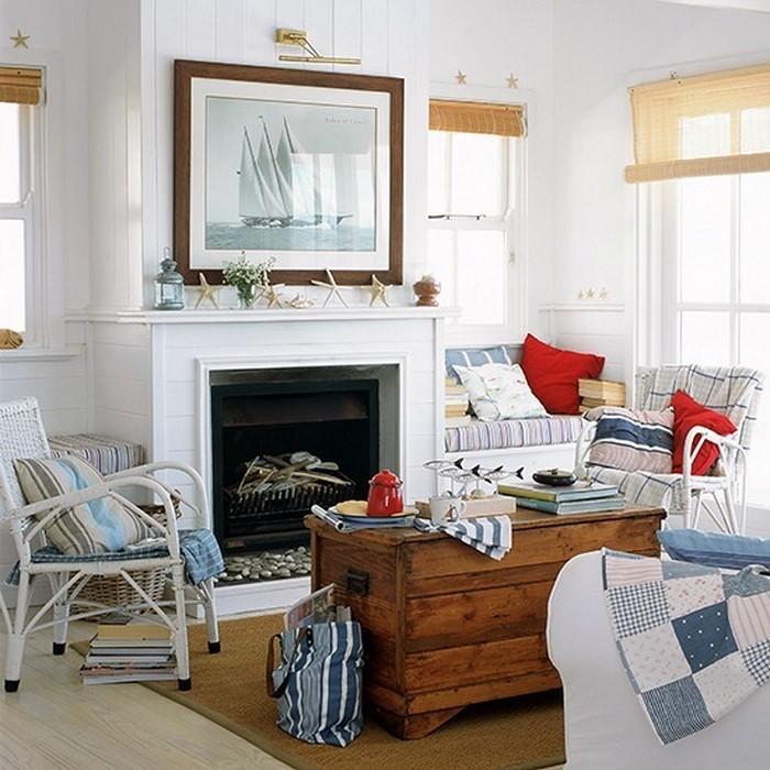 Wohnzimmereinrichtung in Weiß: 80 wunderschöne Ideen