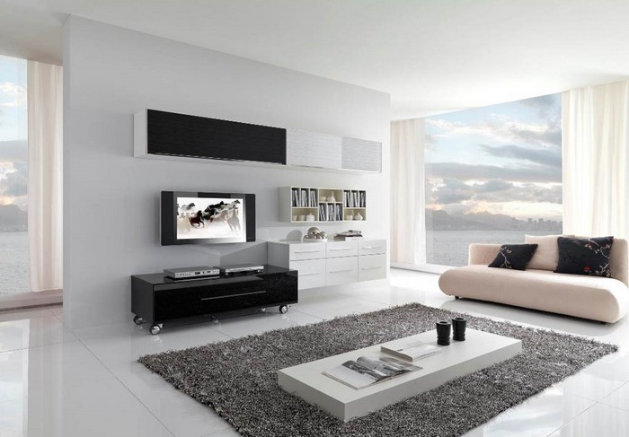 Hochwertig Wohnzimmereinrichtung In Weiß Eine Außergewöhnliche Dekoration