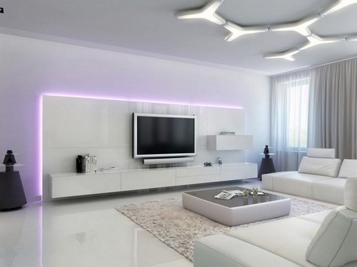 Wohnzimmereinrichtung In Weiß Eine Tolle Gestaltung