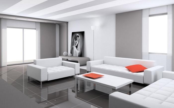 Wohnzimmereinrichtung In Weiß: 80 Wunderschöne Ideen Wohnzimmer Weis Einrichten