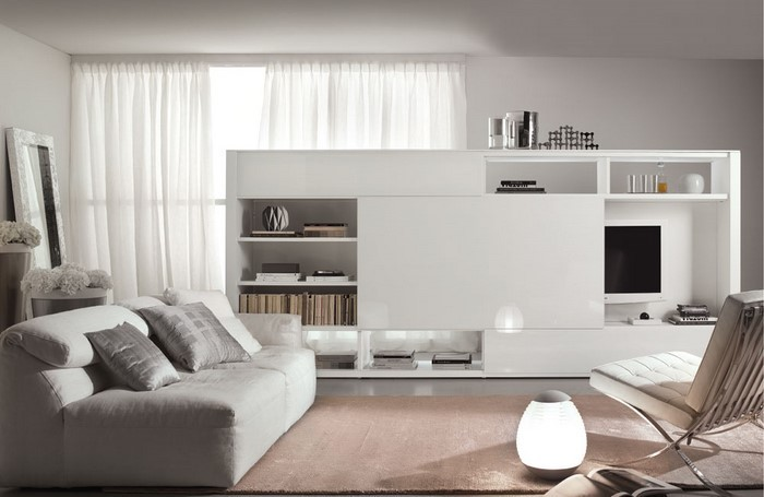 wohnzimmereinrichtung in weiß: 80 wunderschöne ideen - Wohnzimmer Ideen Weiss