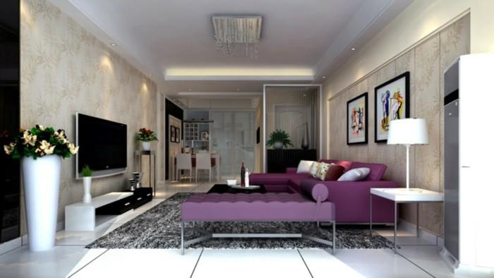 Zimmer-Dekorieren-mit-lila-Sofa