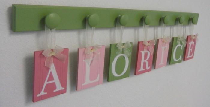 Ber 40 kreative ideen f r zimmerdeko selber basteln for Baby name decoration ideas