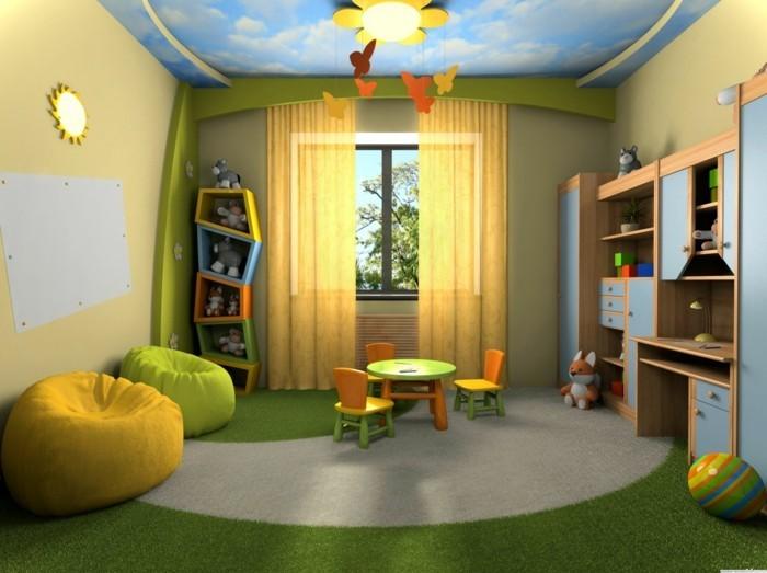 eine-Kinderzimmergestaltung-mit-vielen-Dekorationen