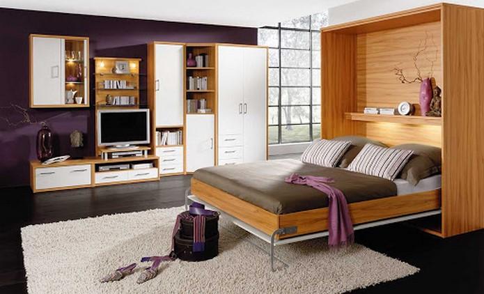 einrichtungsideen schlafzimmer möbel für kleine räume gemütlich klein schlafzimmer multifunktionale möbel bett regal eichenholz
