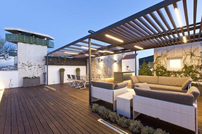 Garten Pergola Modern Led Beleuchtung