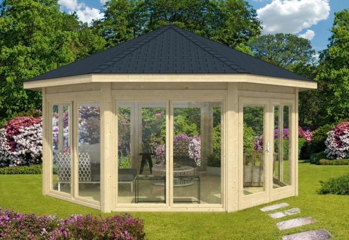 gartenpavillon aus holz f r jeden garten. Black Bedroom Furniture Sets. Home Design Ideas