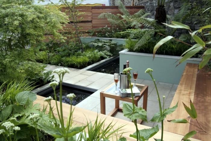 gartenteich anlegen ausgefallene ideen zum thema mini gartenteich - Gartenteich Ideen