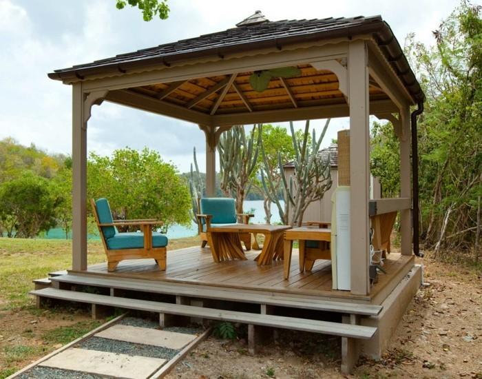 holz pavillon mit seitenteilen ~ kreatif von zu hause design ideen,