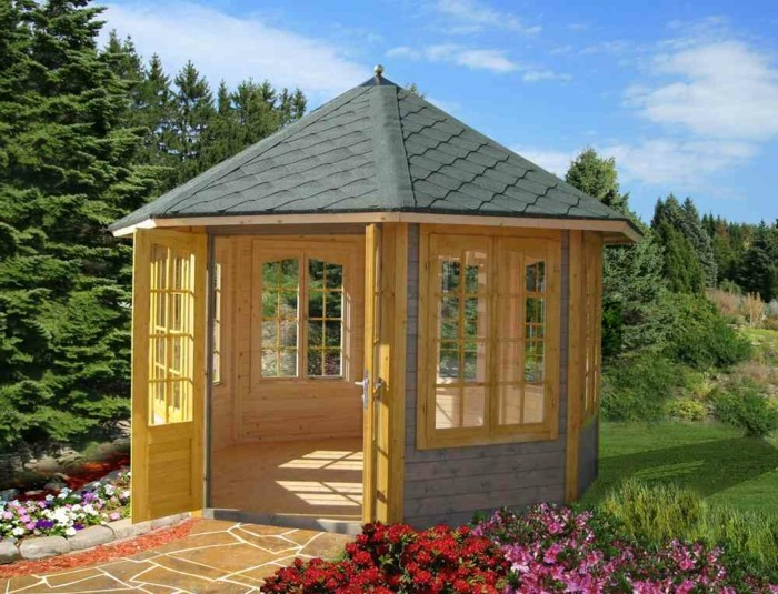 gartenpavillon aus holz f r jeden garten. Black Bedroom Furniture Sets. Home Design Ideas