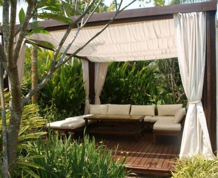 pergola mit sonnensegel eine absolute wohlf hlgarantie. Black Bedroom Furniture Sets. Home Design Ideas