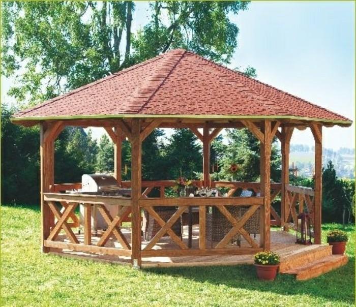 Gartenpavillon aus Holz für jeden Garten - Archzine.net