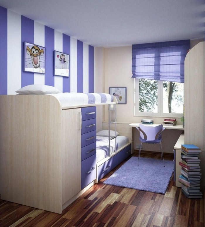 kleine-Räume-einrichten-in-lila-Farbe