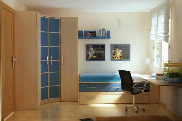 kleine-Räume-einrichten-mit-Schrank-in-der-Ecke