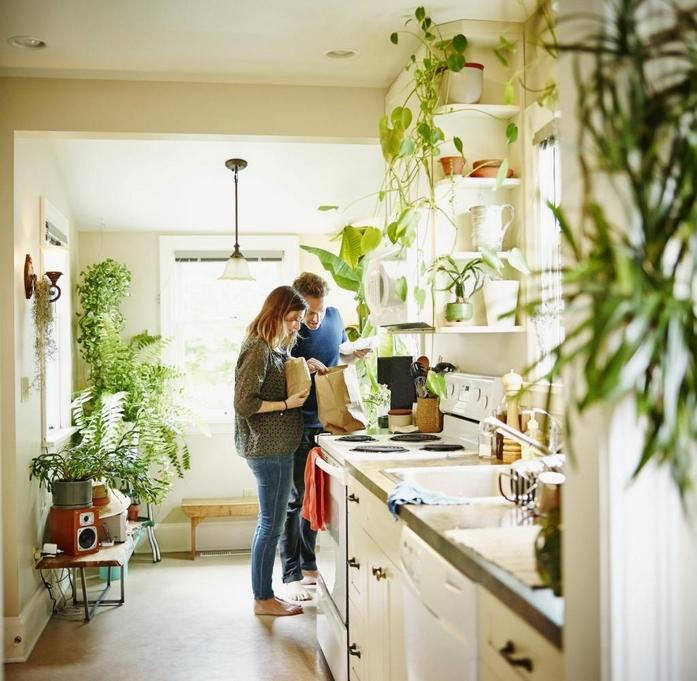 kleines wohnzimmer vorher nachher kleines schlafzimmer zei leute küche pflanzen hell