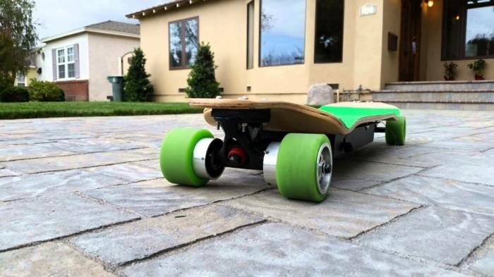 longboard-selber-bauen-grüne-longboard-rollen-für-ihr-board