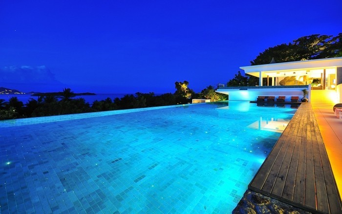 Luxus pool  160 tolle Bilder von Luxus Pool im Garten - Archzine.net